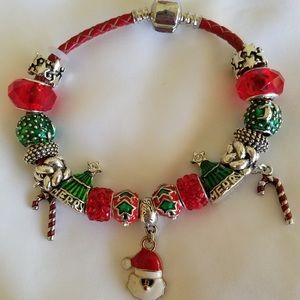 Christmas bracelet Faberge egg charms NEW for sale